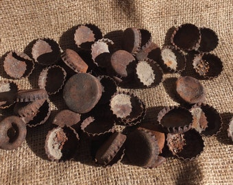 Awesome Rusty ole Bottle Caps-craft project, mixed media, folk art, altered art