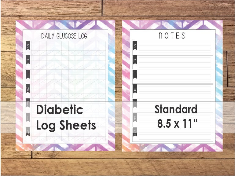 Diabetic Log Sheets Printable Diabetic Log Sheets
