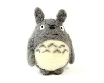 My Neighbor Totoro inspired Handmade Needle Felted ornament