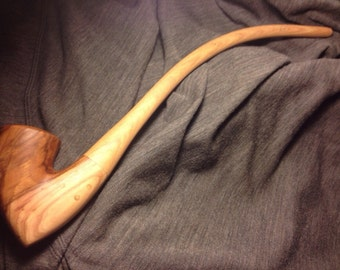 Custom spalted american hickory pipe for ahmed