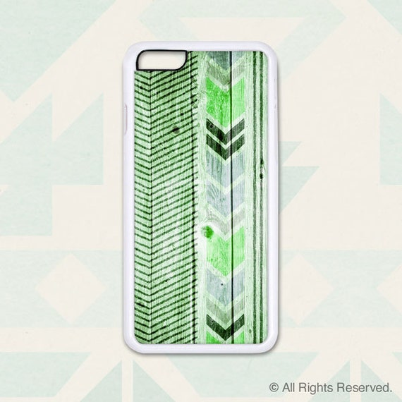 Chevron Lines on Green Wood - Design Cover 209 - iPhone 6, 6+, 5 5s, 5c, 4 4s, Samsung S3, S4, S5