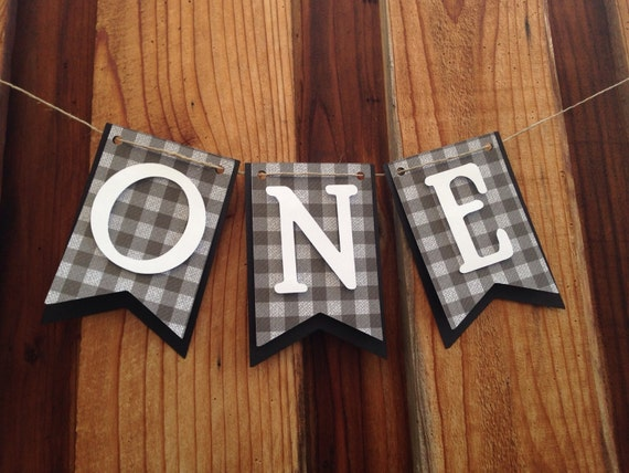 High chair banner, first Birthday, I am one,