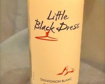 Little Black Dress Sauvignon Blanc Wine - Vanilla Scented Soy Candle