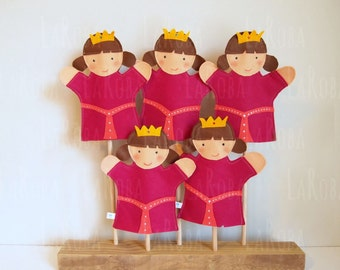 Hand puppet: princess with two buns