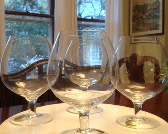 Vintage Crystal Brandy Snifters - Set of four - Never used!