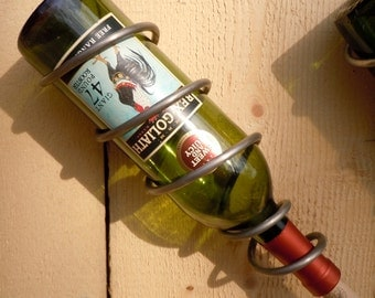 Steel Spiral Single Wine Bottle Holder 750ml