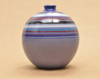 Bitossi for Rosenthal Netter - Fascie Colorate (Coloured Stripes) - Aldo Londi - purple & blue