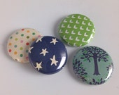 Doodle Tree Button Set of 4 Designs. Build your own set or add to your collection!