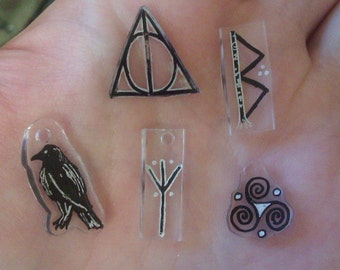 Made-to-Order Plastic-Shrunk Hand-Drawn Charm