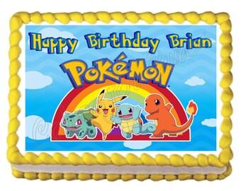 Pokemon edible cake image cake topper frosting sheet
