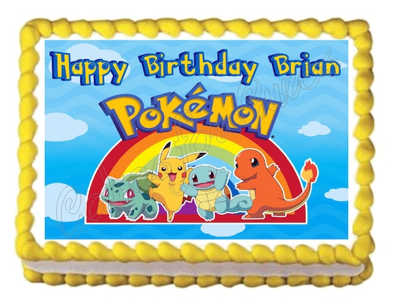 Edible Cake Decorations Pokemon : Pokemon edible cake image cake topper frosting sheet