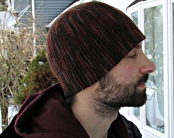 Mens Crochet Beanie- Earth Colored Hat