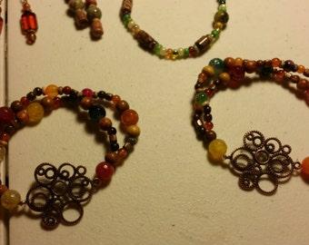 Gears gemstone bracelet