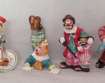 Yano Clowns, 1956, Made in Japan, (four clowns)