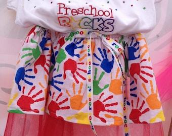 Preschool Rocks Girls Outfit
