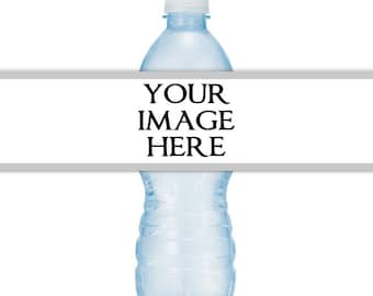 CUSTOM Printable Water Bottle Labels, CUSTOMIZED for your, Personalized for your event, you print, you cut, DIY water bottle labels