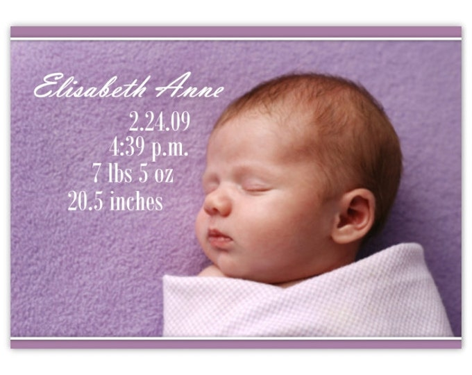 Birth Announcement, New Baby Announcement, Custom Birth Announcement, Adoption Photo Announcement, Printable, Digital file, YOU PRINT