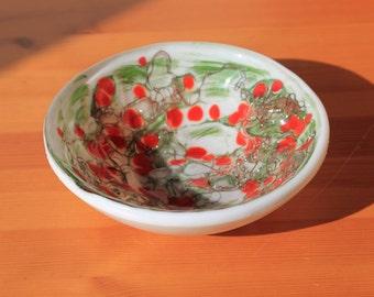 White Poppy Garden bowl - 150mm dia.