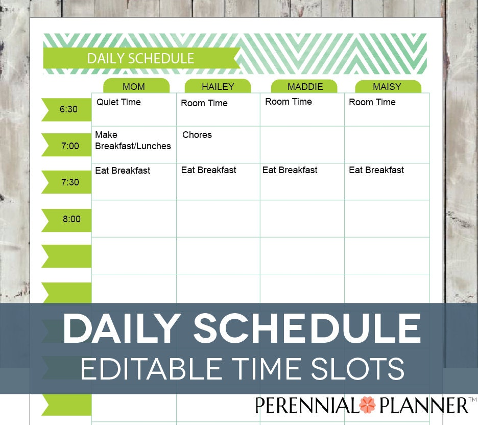 This is a photo of Modest Printable Hourly Schedule