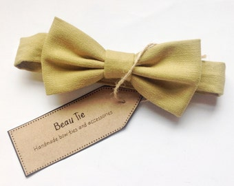 Baby boys bow tie, baby bow tie, olive green baby bow tie, olive green