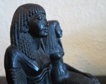 Vintage Egyptian statue, figurine replica by Louvre Museum/vintage Egyptian statue Louvre Museum replica / Egyptian art / Louvre statue gift
