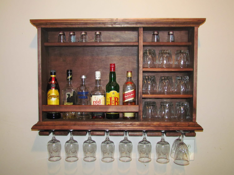 Wall bar cabinet wall mounted liquor cabinet studio for Mini bar wall cabinet