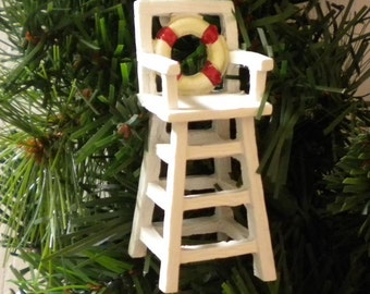 Mini Lifeguard Chair Perfect for Fairy Gardens, Wedding Favors