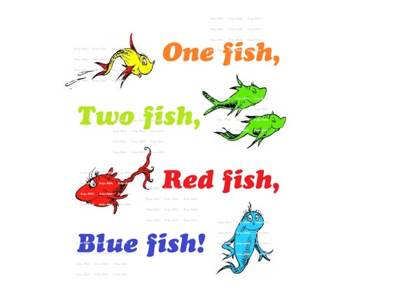 One fish two fish red fish blue fish printables www for One fish two fish menu
