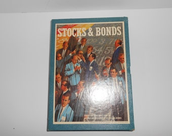 Vintage 3M Stocks & Bonds Trading and Investing Bookshelf Board Game Complete