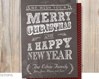 Christmas Greeting Card, Cheers to the New Year