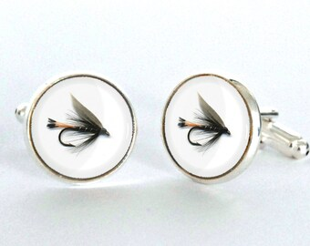 Fly Fishing Cufflinks - Fly Fishing Jewelry - Gift for Fly Fisherman -Fly Fishing Flies