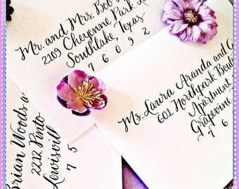 Calligraphy Envelope Addressing for Weddings and other Occasions - Contemporary Twist Script