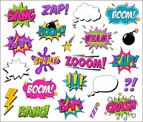 Superheld M 228 Dchen Clipart Comic Book Clip Art Comic Text