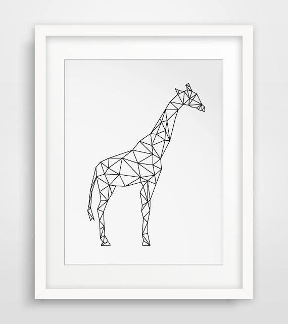 geometric animal print giraffes giraffe by melindawooddesigns