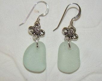 Sea Foam Sea Glass Earrings