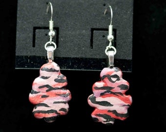 Camouflage Pink Earrings