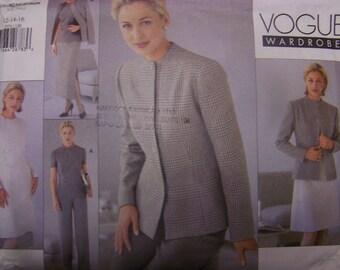 Vogue 2076, Sizes 12-16, womens, misses' UNCUT sewing pattern, Jacket, dress, top, skirt & pants