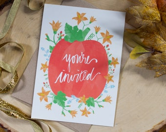 Pack of 5 Thanksgiving Invitations