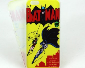 Batman inspired case for iPhone 6/6s and 6/6s Plus - Batman and Robin comic Dynamic Duo - minimalist low profile printed case