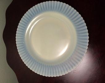 Vintage Macbeth Evans Monax Petalware Translucent Opalescent Dinner Plate