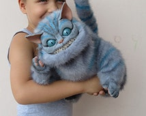 The Order for this product is temporarily NOT ACCEPTING! Cheshire Cat - ooak  polymer clay faux fur ART doll plush fantasy toy Tim Burton