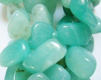 """Genuine Amazonite Drop Style Chip beads, approx. 12 - 18 mm  Beads - Full Strand 15 1/2"""""""