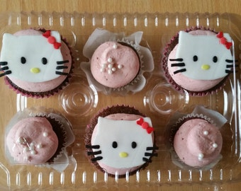 Plastic Cupcake boxes!!! Fits 6 Cupcakes!