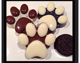 Dog Paw Print Chocolate covered oreos