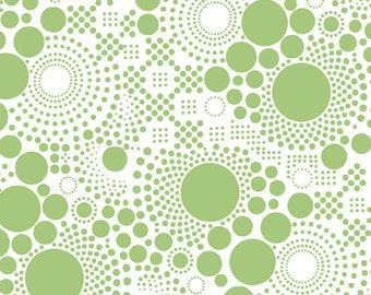 Half Yard Hipsters - Pop Dots in Lime Green - Cotton Quilt Fabric - C521-03 - RBD Designers for Riley Blake Designs (W2441)