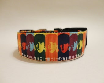 The Beatles Dog Collar Adjustable