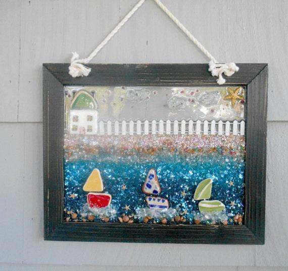 Coastal Decor Whimsical Beach Art Beach House Decor By