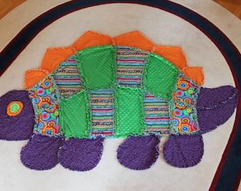 Handmade Quilt - Rag Quilt - Dinosaur Quilt