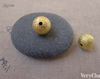 20 pcs Gold Plated Sand Star Dust Beads 10mm A7438