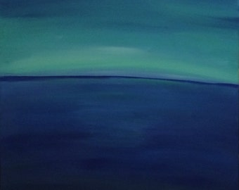 Original Acrylic 30in x 30in Abstract Seascape II